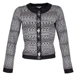 Abbigliamento Donna Giacche / Blazer Manoush BIJOU VESTE Nero / Grigio