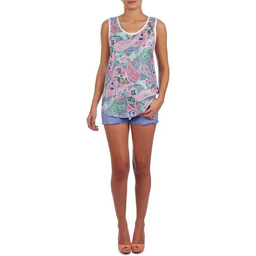 Manoush Paisley Retro Multicolore - Consegna Gratuita- Abbigliamento Top / T-shirt Senza Maniche Donna 18720