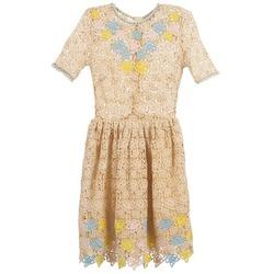 Abbigliamento Donna Abiti corti Manoush ROSES Ecru