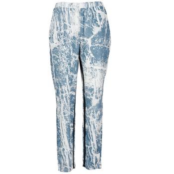 Abbigliamento Donna Pantaloni morbidi / Pantaloni alla zuava Vila GRUNGE ME Blu / Bianco