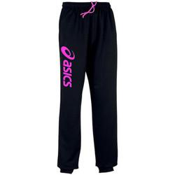 Abbigliamento Pantaloni da tuta Asics Sigma-Pantalon Black/Flash Pink