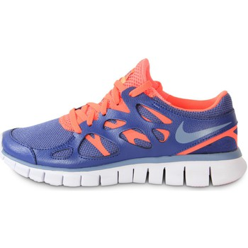 Scarpe Donna Sneakers Nike Free Run 2 Ext Blue Legend Bleu/Orange