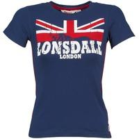 Abbigliamento Donna T-shirt maniche corte Lonsdale ERYKAH Blu