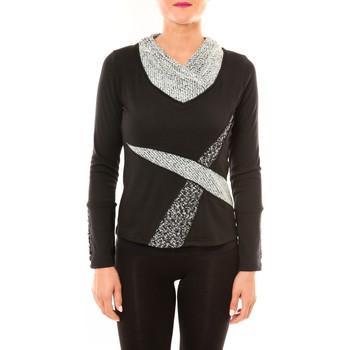 Abbigliamento Donna T-shirts a maniche lunghe Bamboo's Fashion Top BW632 noir Nero
