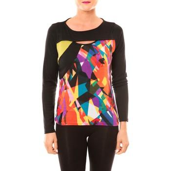 Abbigliamento Donna T-shirts a maniche lunghe Bamboo's Fashion Top BW623 noir Nero