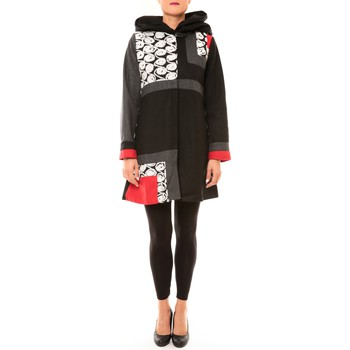 Abbigliamento Donna Cappotti Bamboo's Fashion Manteau BW670 noir Nero