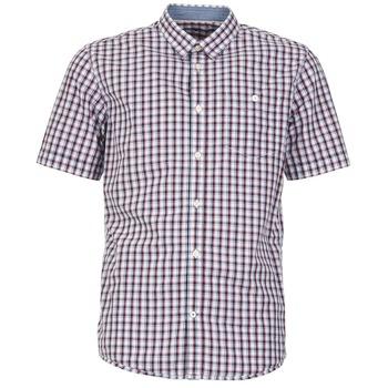 Abbigliamento Uomo Camicie maniche corte Tom Tailor CATHARINI Bianco / Rosso / Nero