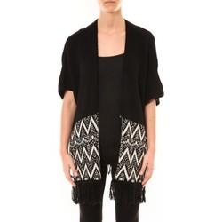 Abbigliamento Donna Gilet / Cardigan De Fil En Aiguille Gilet Mélodie Noir Nero