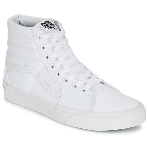 Scarpe Sneakers alte Vans SK8-HI Bianco