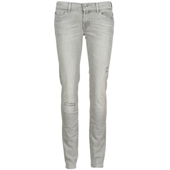 Abbigliamento Donna Jeans slim 7 for all Mankind ROXANNE DESTROYED Grigio