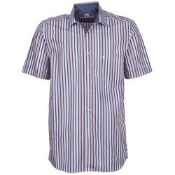 Abbigliamento Uomo Camicie maniche corte Pierre Cardin 514636216-184 Blu / Rosa