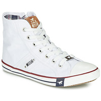 Scarpe Donna Sneakers alte Mustang GALLEGO Bianco