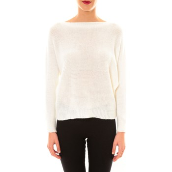 Abbigliamento Donna Maglioni De Fil En Aiguille Pull Galina blanc Bianco