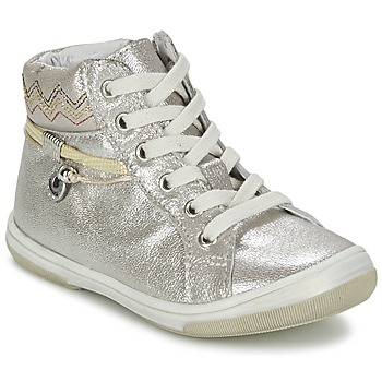 Scarpe Bambina Sneakers alte Catimini CALLUNA Beige / Argento
