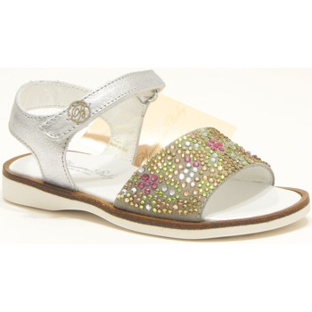 Scarpe Bambina Sandali Blumarine sandalo gioiello bambina in pelle laminata con strass e camosci 0
