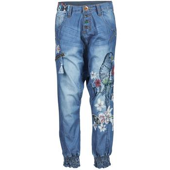 Abbigliamento Donna Pantaloni morbidi / Pantaloni alla zuava Desigual ANIATINE Blu / MEDIUM