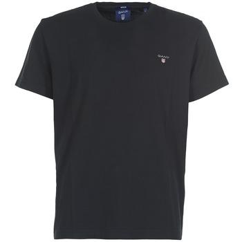 Abbigliamento Uomo T-shirt maniche corte Gant THE ORIGINAL SOLID T-SHIRT Nero