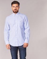 Abbigliamento Uomo Camicie maniche lunghe Gant THE POPLIN BANKER STRIPE Blu