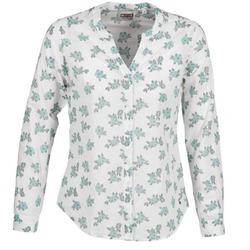 Abbigliamento Donna Camicie Mustang FLOWER BLOUSE Bianco / Blu