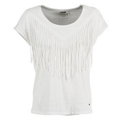 Abbigliamento Donna T-shirt maniche corte Mustang FRINGE Bianco