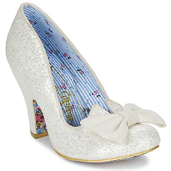 Scarpe Donna Décolleté Irregular Choice NICK OF TIME Bianco / Pailleté