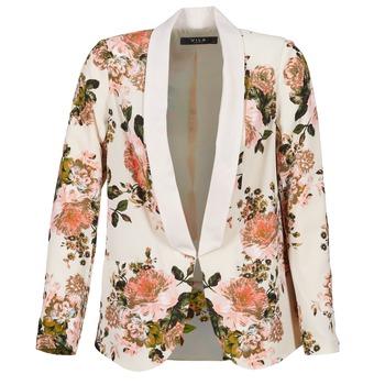 Abbigliamento Donna Giacche / Blazer Vila VIFLOURISH BLAZER Beige / Fleuri