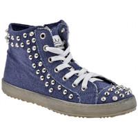Scarpe Donna Sneakers alte F. Milano Mid Bullonato Sportive alte blu