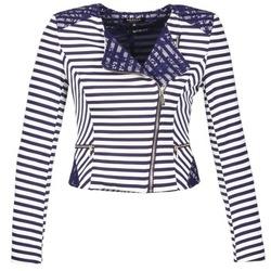 Abbigliamento Donna Giacche / Blazer Morgan VMEL MARINE / Bianco