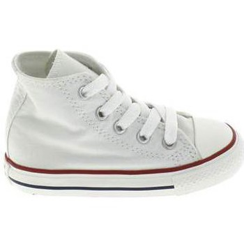 Scarpe Unisex bambino Scarpette neonato Converse All Star Hi BB Blanc Bianco