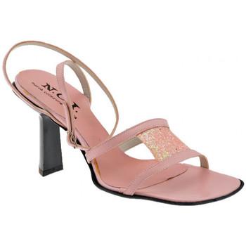 Scarpe Donna Sandali Nci Cinturino Caviglia Tacco 80 Sandali rosa