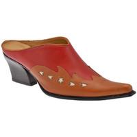 Scarpe Donna Zoccoli Nci TexanoTacco70Sabot rosso