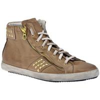 Scarpe Uomo Sneakers alte Exton Zip Bulloni Mid Sportive alte beige