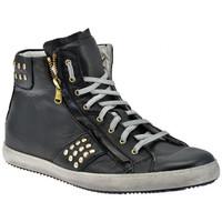 Scarpe Uomo Sneakers alte Exton Zip Bulloni Mid Sportive alte nero