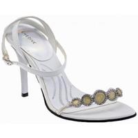 Scarpe Donna Sandali Chedivé Strass Tacco 100 Sandali bianco