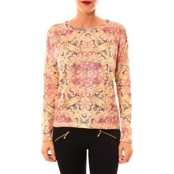 Abbigliamento Donna Maglioni Custo Barcelona Pull Ramone Bloom or Oro
