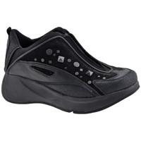 Scarpe Unisex bambino Sneakers alte Fornarina Borchie Zip Zeppa nero