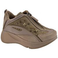 Scarpe Unisex bambino Sneakers alte Fornarina Borchie Zip Zeppa sand