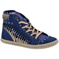Scarpe Donna Sneakers alte Fornarina Sneaker Mid Bulloni Casual blu