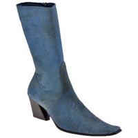 Scarpe Donna Stivali Giancarlo Paoli TronchettoT.60Stivaletti blu