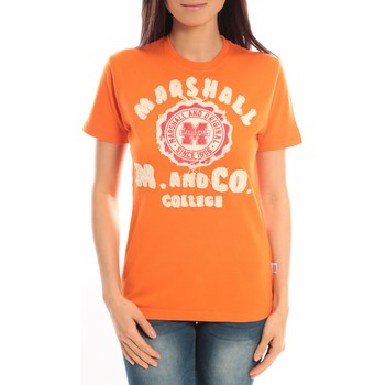 Abbigliamento Donna T-shirt maniche corte Sweet Company T-shirt Marshall Original M and Co 2346 Orange Arancio