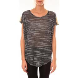 Abbigliamento Donna T-shirt maniche corte Dress Code Top à sequins R5523 anthracite Grigio