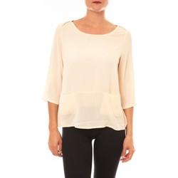 Abbigliamento Donna T-shirts a maniche lunghe La Vitrine De La Mode By La Vitrine Top K598 écru Beige