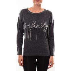 Abbigliamento Donna Maglioni Barcelona Moda Pull 71035206 anthracite Grigio