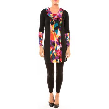 Abbigliamento Donna Abiti corti Bamboo's Fashion Robe Vintage/noir BW618 multicolor Nero