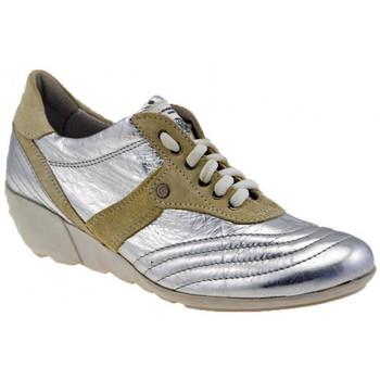 Scarpe Donna Sneakers alte OXS Agnen Zeppa argento