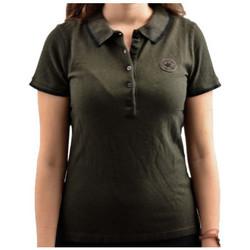 Abbigliamento Donna Polo maniche corte Converse Short Polo nero