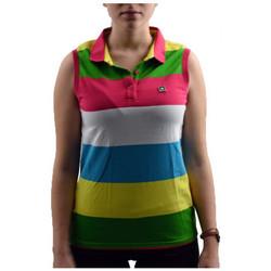 Abbigliamento Donna Polo maniche corte Converse Smanicata Polo multicolore