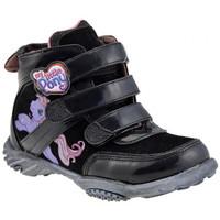 Scarpe Bambino Sneakers alte Dessins Animés Little Pony Mid Velcro Sportive alte nero