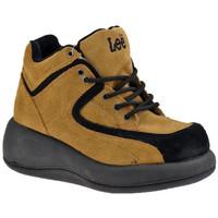 Scarpe Donna Sneakers alte Lee Allacciato Zeppa beige