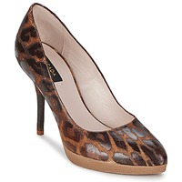 Scarpe Donna Décolleté Escada AS701 Marrone / Leopard